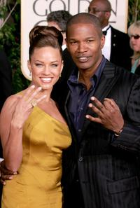 Leila Arcieri and Jamie Foxx at the 62nd annual Golden Globe Awards show.