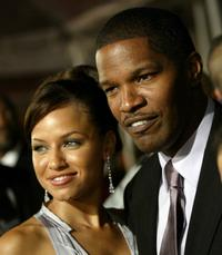 Leila Arcieri and Jamie Foxx at the premiere of