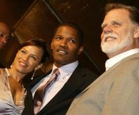 Leila Arcieri, Jamie Foxx and Director Taylor Hackford at the premiere of