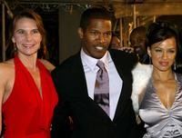 Karen Baldwin, Jamie Fox and Leila Arcieri at the premiere of