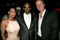 Leila Arcieri, Jamie Foxx and Tom Morrissy at the Usher's Private Grammy Party.