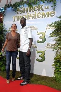Diams and Omar Sy at the premiere of