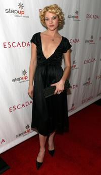 Nicki Lynn Aycox at the Step Up Women's Network toast with Escada and Jessica Alba.
