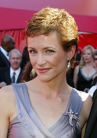 Leslie Hope at the 54th Annual Primetime Emmy Awards.