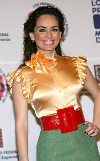 Ana de la Reguera at the press room during the Los Premios MTV Latino America 2006.