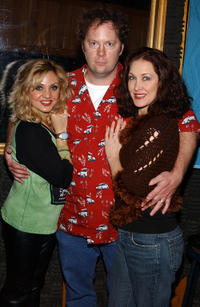Orfeh, Shuler Hensley and Kaitlin Hopkins at the recording session for the musical's CD.