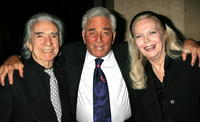 Director Arthur Hiller, Peter Falk and Barbara Bain at the 33rd Annual Vision Awards.