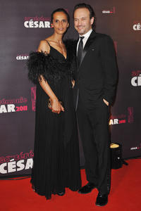 Karine Silla and Vincent Perez at the 36th French Cesar Film Awards 2011.