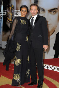 Karine Silla and Vincent Perez at the opening ceremony of the 10th Marrakech International Film Festival in Marrakech.