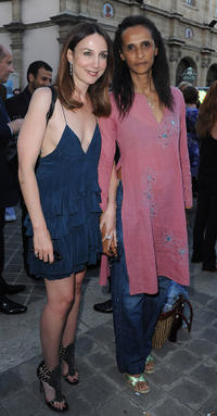 Elsa Zylberstein and Karine Silla at the 23rd Fete Du Cinema Reception in Paris.