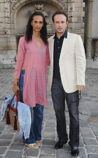Karine Silla and Vincent Perez at the 23rd Fete Du Cinema Reception in Paris.