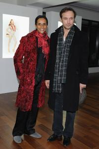 Karine Silla and Vincent Perez at the Terry Richardson's exhibition opening for Vogue Calendar.