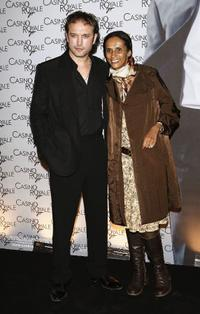 Vincent Perez and Karine Silla at the French premiere of