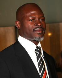 Actor Djimon Hounsou at the Hollywood premiere of