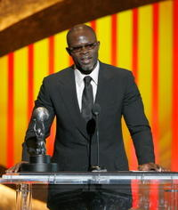 Djimon Hounsou accepts his NAACP Image Award for