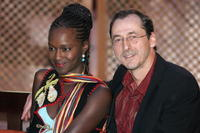 Fatou N'Diaye and Luc Picard at the Marrakesh International Film Festival.