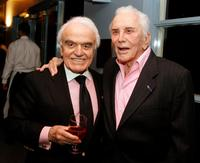 Jack Valenti and Kirk Douglas at the National Italian American Foundation and American Film Institute reception.