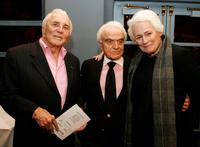 Kirk Douglas, Jack Valenti and Jean Picker Firstenberg at the National Italian American Foundation and American Film Institute reception.
