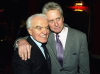 Jack Valenti and Michael Douglas at the hand and footprints ceremony.