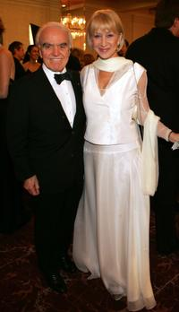 Jack Valenti and Helen Mirren at the cocktail reception during the 57th Annual DGA Awards Dinner.