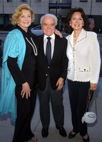 Barbara Sinatra, Jack Valenti and Jolene Schlatter at the memorial service for the late US Director Billy Wilder.