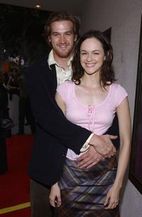 Kenneth Mitchell and Susan May Pratt at the premiere of