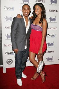 Marques Houston and Claudia Jordan at the Kim Kardashian's Birthday Party.
