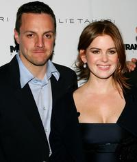 Sergio Di Zio and Isla Fisher at the screening of