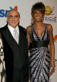 Chairman and CEO BMG USA Clive Davis and Whitney Houston at the 2008 Clive Davis Pre-GRAMMY party in California.