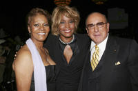 Singer Dionne Warwick, Whitney Houston and producer Clive Davis at the 15th Annual Ella Awards in California.