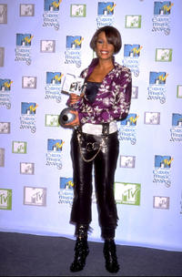 Whitney Houston at the 1999 MTV Europe Music Awards in Dublin.