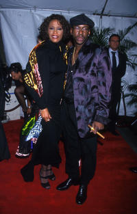Whitney Houston and Bobby Brown at the after party of VH1's Divas Live in New York.