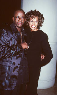 Bobby Brown and Whitney Houston at the Third Annual International Achievement In Arts Awards in California.