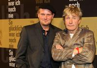 Devid Striesow and Joerg Schuettauf at the premiere of