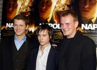 Director Dennis Gansel, Tom Schilling and Devid Striesow at the premiere of
