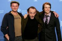 Devid Striesow, Karl Markovics and August Diehl at the photocall of