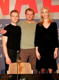 Hinnerk Schoenemann, Devid Striesow and Nina Hoss at the promotion of