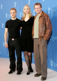 Hinnerk Schoenemann, Nina Hoss and Devid Striesow at the photocall of