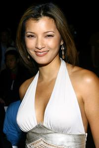 Kelly Hu at the Buckler Fall 2007 fashion show during Mercedes-Benz Fashion Week.