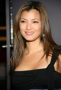 Kelly Hu at the W VIP lounge during Mercedes Benz Fashion Week.