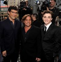 Richard Brenner, Samuel Bayer and Kyle Gallner at the premiere of