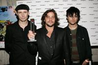 Tre Cool, Samuel Bayer and Billy Joe Armstrong at the 15th Annual Music Video Production Awards.