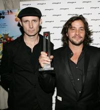 Tre Cool and Samuel Bayer at the 15th Annual Music Video Production Awards.