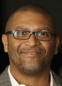 Reginald Hudlin at the Television Critics Winter Press Tour panel discussion.