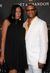 Reginald Hudlin and wife at the 2007 BET Awards after party hosted by 10 Cane Rum.