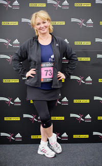 Cheryl Baker at the adidas Women's 5K Challenge in England.