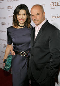 Finola Hughes and Russel Young at the Art Of Elysium's 5th Annual Heaven Gala in California.