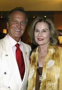 Diane Baker and Pat Boone at the Academy of Motion Picture Arts and Sciences centennial tribute to Oscar winning director George Stevens.