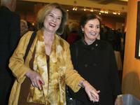 Diane Baker and Millie Perkins at the Academy of Motion Picture Arts and Sciences centennial tribute to Oscar winning director George Stevens.