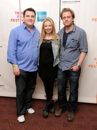 Simon Delaney, Janice Byrne and Rory Keenan at the premiere of